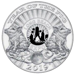 Long Beach Expo 2019 Silver 5 Ounce Panda